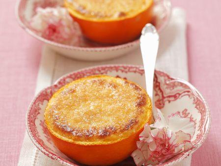 Creme brulee in der Orange