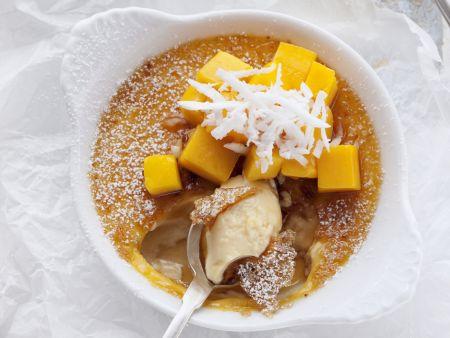 Creme brulee mit Mango