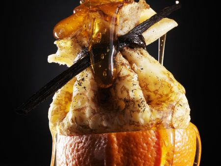 Crêpepäckchen in der Orange