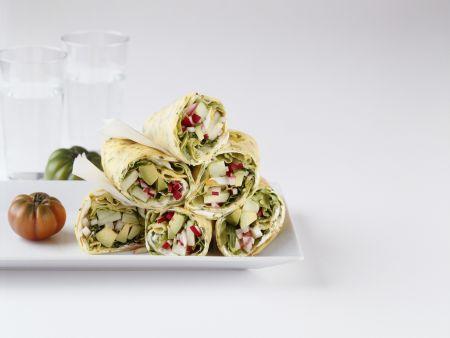 Rezept: Crêpes mit Gemüsefüllung