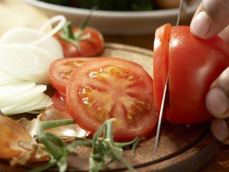 Crespelle mit Spinat und Ricotta: Zubereitungsschritt 1