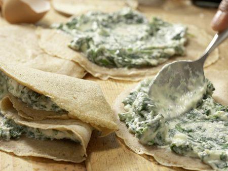 Crespelle mit Spinat und Ricotta: Zubereitungsschritt 7