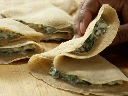 Crespelle mit Spinat und Ricotta: Zubereitungsschritt 8