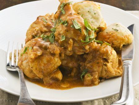 Curry-Hähnchen mit Koriander