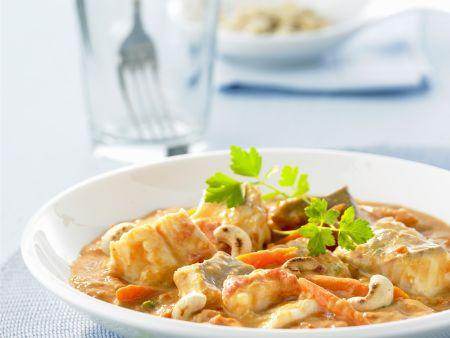 Curry mit Fisch und Gemüse