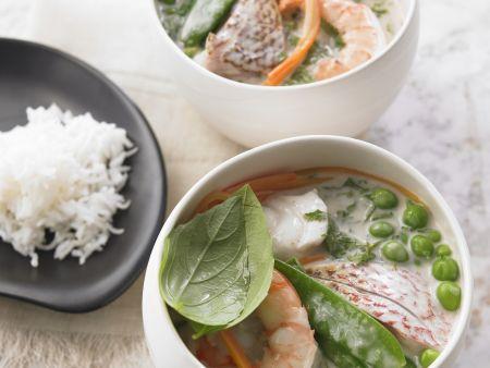 Curry mit Fisch und Meeresfrüchten