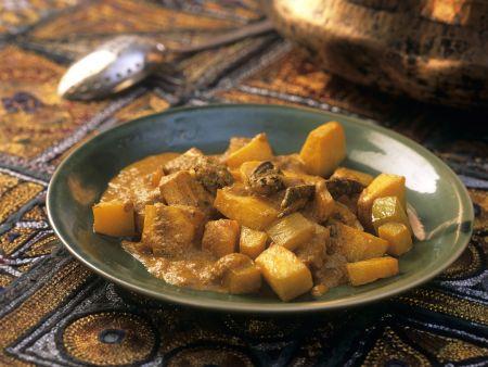 Curry mit Gemüse und Yamwurzeln