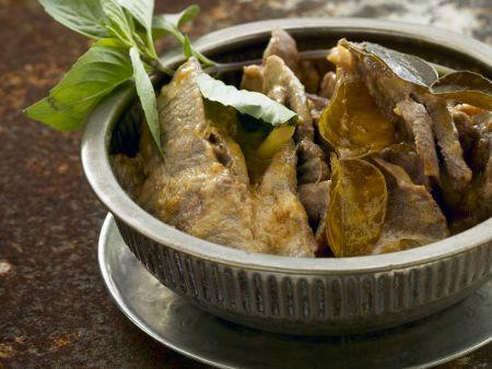 Curry mit Rindfleisch und Kaffirlimetten