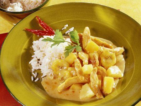 Currygeschnetzeltes mit Hähnchen und Früchten