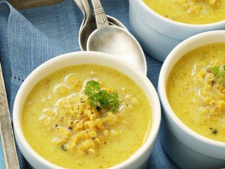 Currysuppe mit Linsen