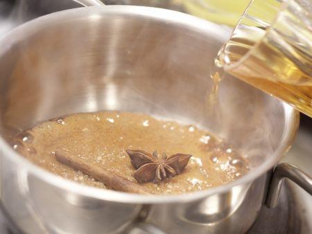 Dattelpudding auf Orangenkompott: Zubereitungsschritt 8
