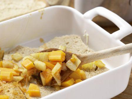 Deftiger Gemüseauflauf mit Brot: Zubereitungsschritt 8