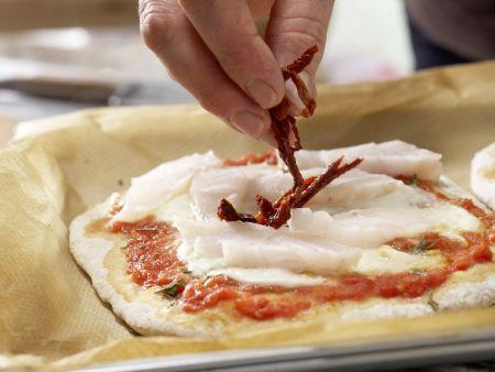 Dinkelpizza: Zubereitungsschritt 9