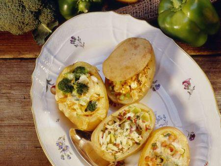 Dreierlei gefüllte Kartoffeln