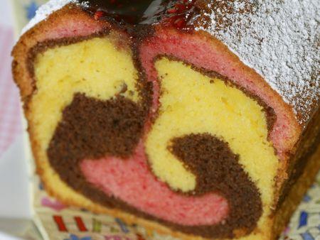 Rezept: Dreifarbiger Marmorkuchen