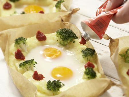 Ei im Kartoffelnest: Zubereitungsschritt 9