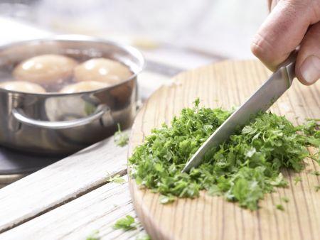 Eier in Curry-Senf-Sauce: Zubereitungsschritt 5