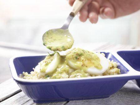 Eier in Curry-Senf-Sauce: Zubereitungsschritt 8
