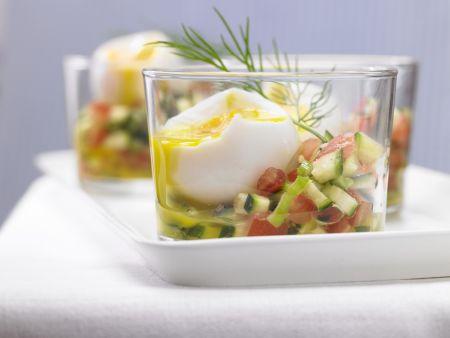 Eier im Glas