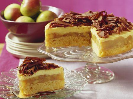 Eierlikör-Apfelkuchen mit Schokofächern