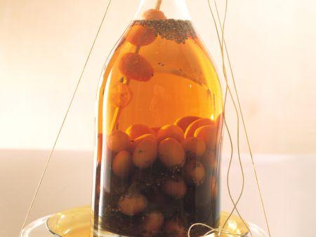 Eingelegte Kumquats in Orangenlikör und Rum