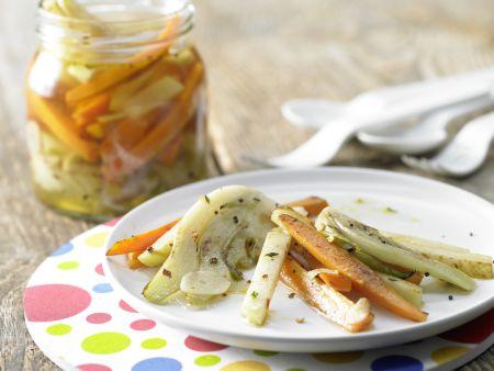 Eingelegtes Gemüse in Chilisud