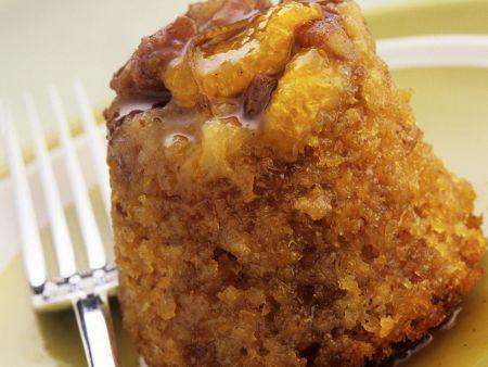 Englischer Pudding mit Sirup