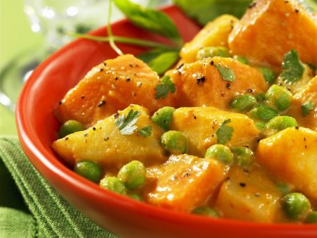 Erbsen-Kartoffel-Curry