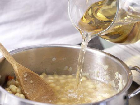 Erbsencremesuppe: Zubereitungsschritt 3