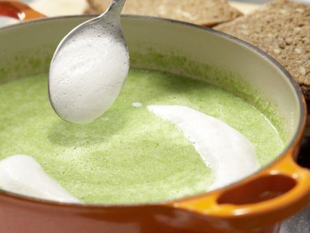 Erbsensuppe mit Mini-Cabanossi: Zubereitungsschritt 5