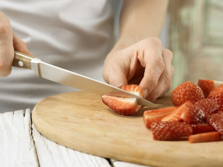 Erdbeer-Espresso-Schichtspeise: Zubereitungsschritt 1