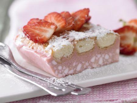Rezept: Erdbeer-Frischkäse-Schnitten