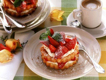 Rezept: Erdbeer-Mascarpone-Törtchen