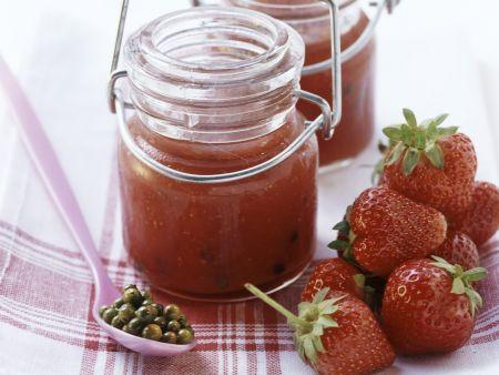 Erdbeer-Pfeffer-Konfitüre