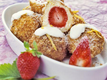 Erdbeer-Quarkknödel