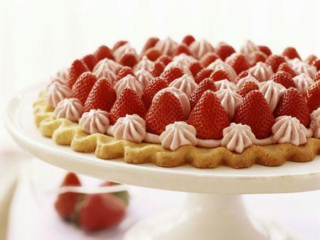 Rezept: Erdbeertarte