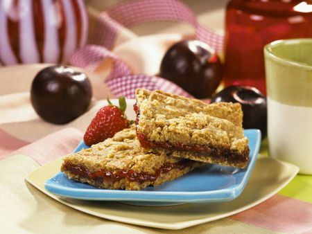 Erdnuss-Marmeladen-Schnitten