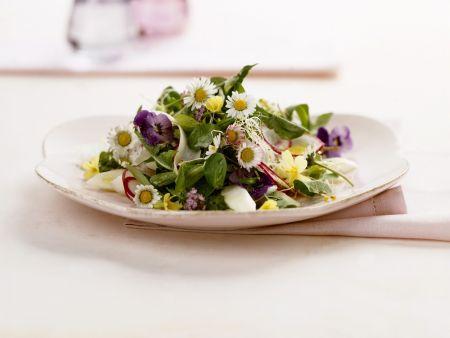 Rezept: Essblumen-Salat