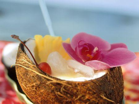 Exotischer Kokos-Cocktail