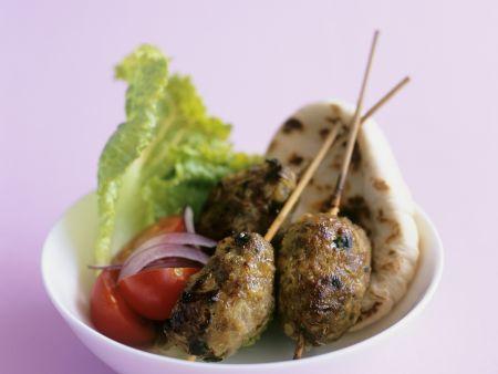 Falafel mit Lammhackfleisch