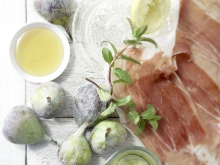 Feigen auf Parmaschinken: Zubereitungsschritt 1