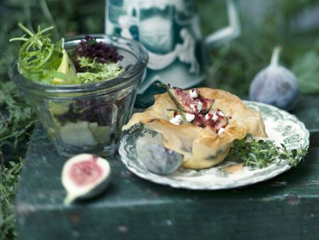 Rezept: Feigenküchlein mit Ziegenkäse und Zitronenthymian