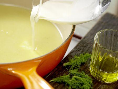 Feine Fenchelcremesuppe: Zubereitungsschritt 6