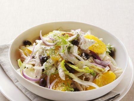 Fenchel-Hähnchen-Salat mit Orange