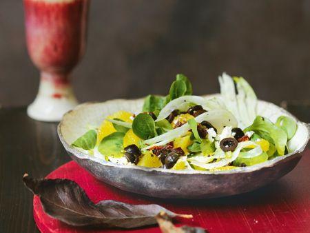 Fenchel-Orangen-Salat mit Feta