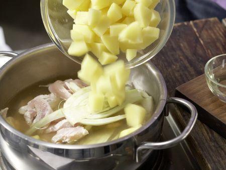 Fenchelbrei mit Hähnchen: Zubereitungsschritt 5