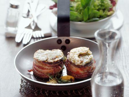 Filetsteak mit Schalottenkruste überbacken