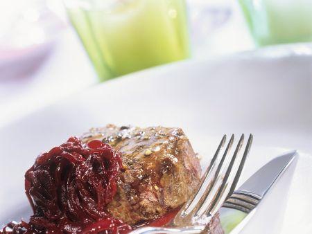 Filetsteaks mit Zwiebelsauce