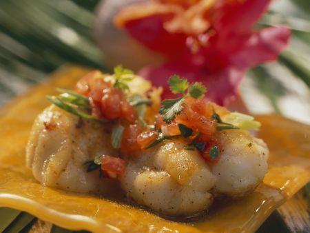 Fisch auf kreolische Art mit Tomatensalsa