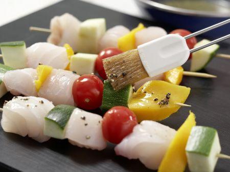 Fisch-Gemüse-Spieße: Zubereitungsschritt 6